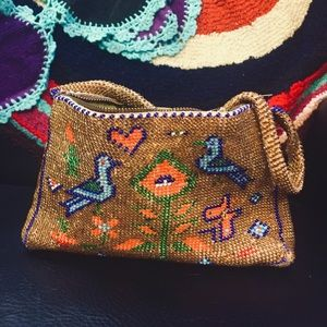 •  Vintage • hand made 1960s small beaded purse